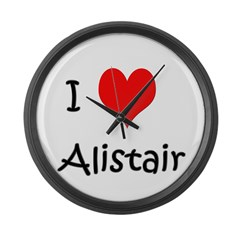 I Love Alistair Giant Clock