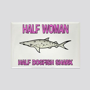 Half Woman Half Dogfish Shark Rectangle Magnet