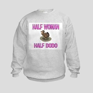 Half Woman Half Dodo Kids Sweatshirt