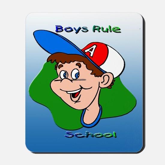 Boys Rule School Mousepad