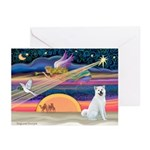 XmasAngel - Akita Greeting Cards (Pk of 10)