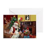 Santa & Anatolian Greeting Greeting Card