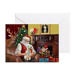 Santa's Bedlington Greeting Cards (Pk of 10)