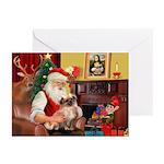 Santa's Tibet Span Greeting Cards (Pk of 10)