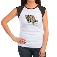 Yellow-Blotched Sawback Turtle Women's Cap Sleeve