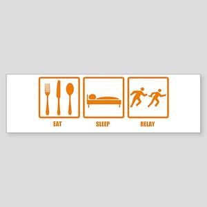 Eat Sleep Relay Bumper Sticker