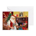 Santa's English Setter Greeting Cards (Pk of 10)