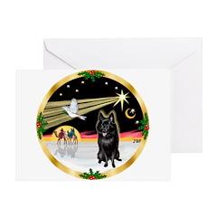 XmasDove/Schipperke Greeting Card
