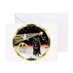 XmasDove/Schipperke Greeting Cards (Pk of 20)