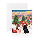 Santas Scipperke Greeting Card
