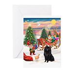 Santas Schipperke Greeting Cards (Pk of 10)