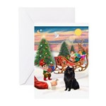 Santas Schipperke Greeting Cards (Pk of 20)