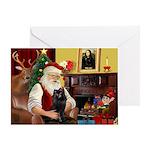 Santa's Schipperke Greeting Card