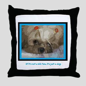 Shih Tzu Pop Art Cappuccino Throw Pillow