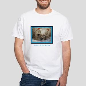 Shih Tzu Pop Art Cappuccino White T-Shirt