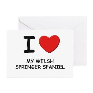 Welsh springer spaniel greeting cards cafepress m4hsunfo