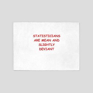 statistics 5'x7'Area Rug