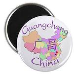 Guangchang China Map Magnet