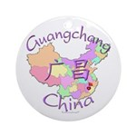 Guangchang China Map Ornament (Round)
