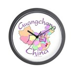 Guangchang China Map Wall Clock