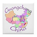 Guangchang China Map Tile Coaster