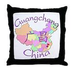 Guangchang China Map Throw Pillow