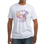 Guangchang China Map Fitted T-Shirt