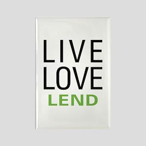 Live Love Lend Rectangle Magnet