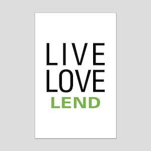Live Love Lend Mini Poster Print