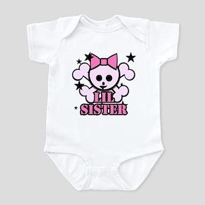 pink bow skull little sister Infant Bodysuit