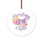 Hengfeng China Map Ornament (Round)