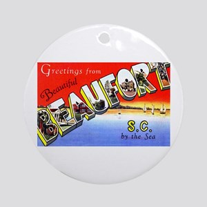 Beaufort South Carolina Greetings Ornament (Round)