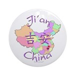 Ji'an China Map Ornament (Round)