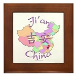 Ji'an China Map Framed Tile