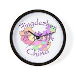 Jingdezhen China Map Wall Clock