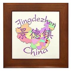 Jingdezhen China Map Framed Tile