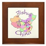 Jishui China Map Framed Tile