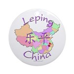 Leping China Map Ornament (Round)
