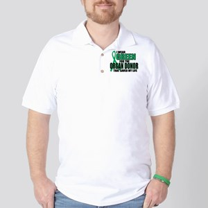 Green For Organ Donor Golf Shirt