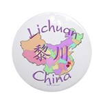 Lichuan China Map Ornament (Round)