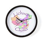 Lichuan China Map Wall Clock