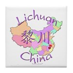 Lichuan China Map Tile Coaster