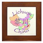 Lichuan China Map Framed Tile