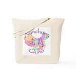 Nanchang China Map Tote Bag
