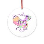 Nanchang China Map Ornament (Round)