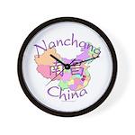 Nanchang China Map Wall Clock