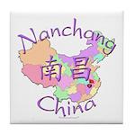 Nanchang China Map Tile Coaster