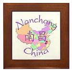 Nanchang China Map Framed Tile