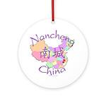 Nancheng China Map Ornament (Round)