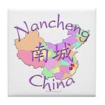 Nancheng China Map Tile Coaster
